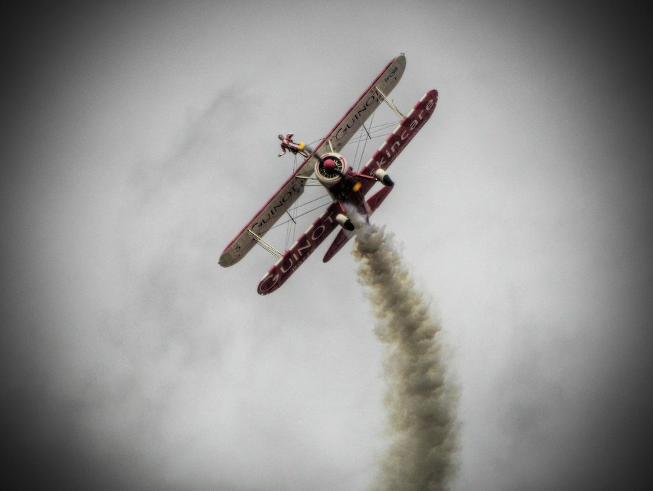 Team Guinot wing walkers, performing at Southport Air Show, 2009