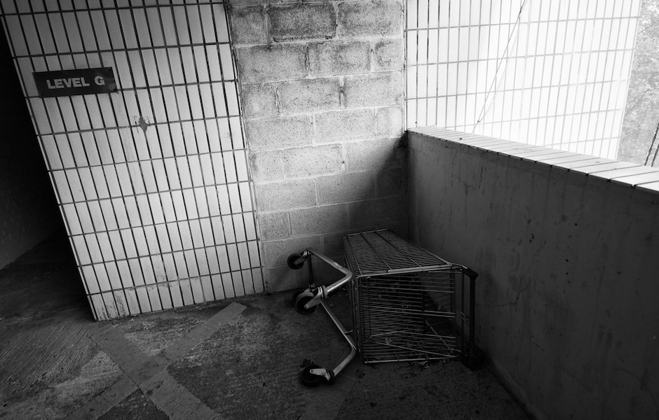 Abandoned shopping trolley, Halton Lea Shopping Centre, Runcorn