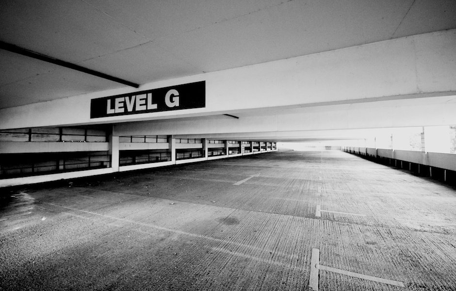 Empty car park, Halton Lea Shopping Centre, Runcorn