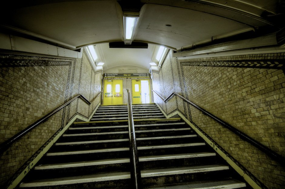 Exit from station, James Street underground station, Liverpool