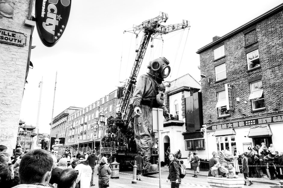 Sea Odyssey - Giant Uncle walking through Chinatown