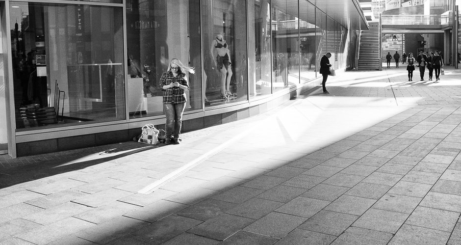 Liverpool One Black and White Street Photography