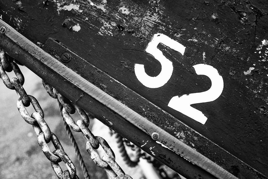 52 on side of boat - Rhos-on-sea, North Wales