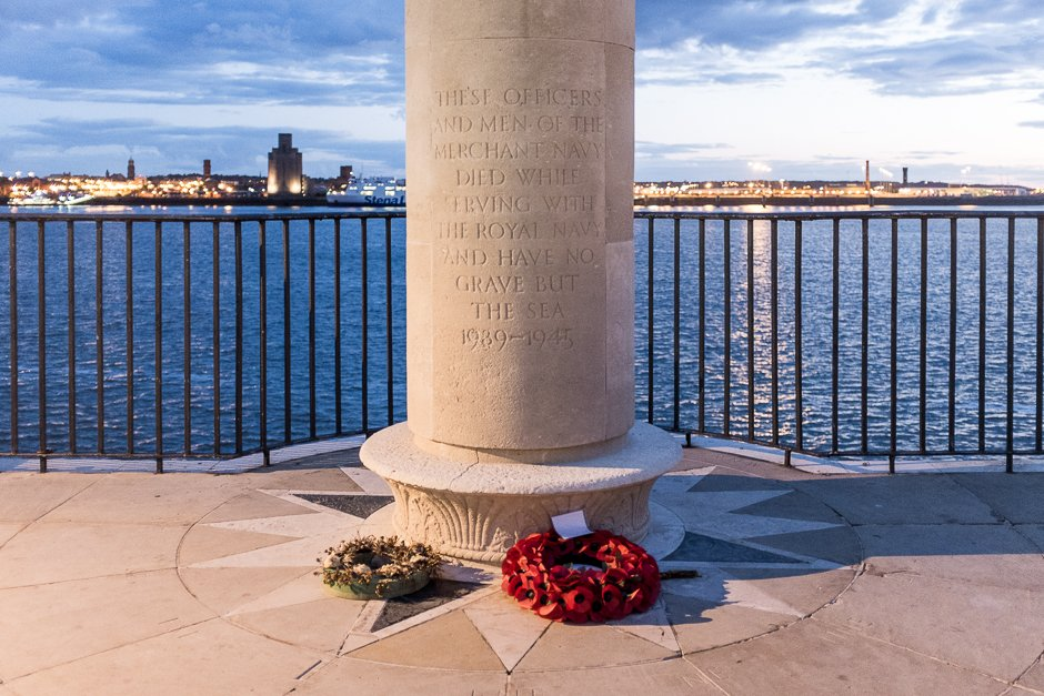 Merchant Navy Battle of the Atlantic Memorial memorial at the Pier Head, Liverpool