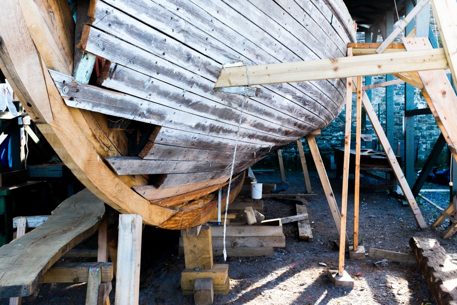 Boat in dry dock - Conwy, North Wales