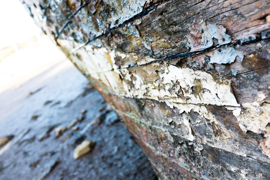 Rotten boat detail  - Conwy, North Wales
