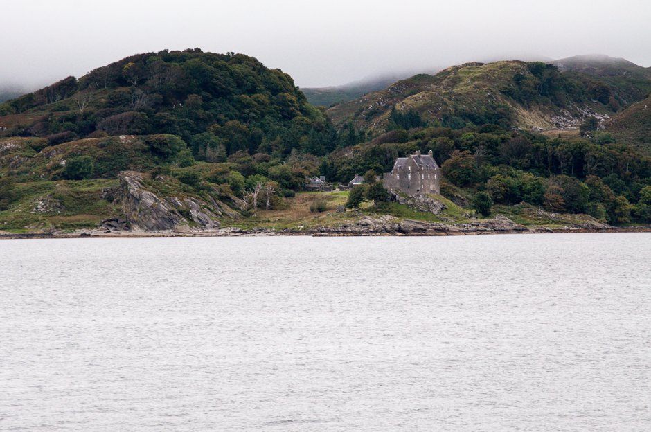 View across from Crinan, Scotland