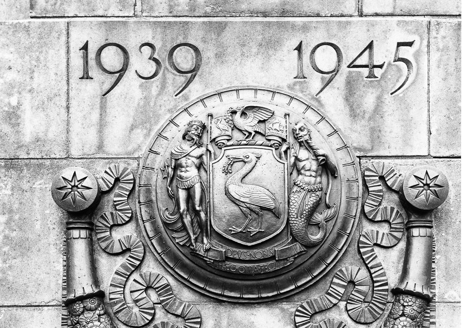 St George's Hall War Memorial Black and White Detail