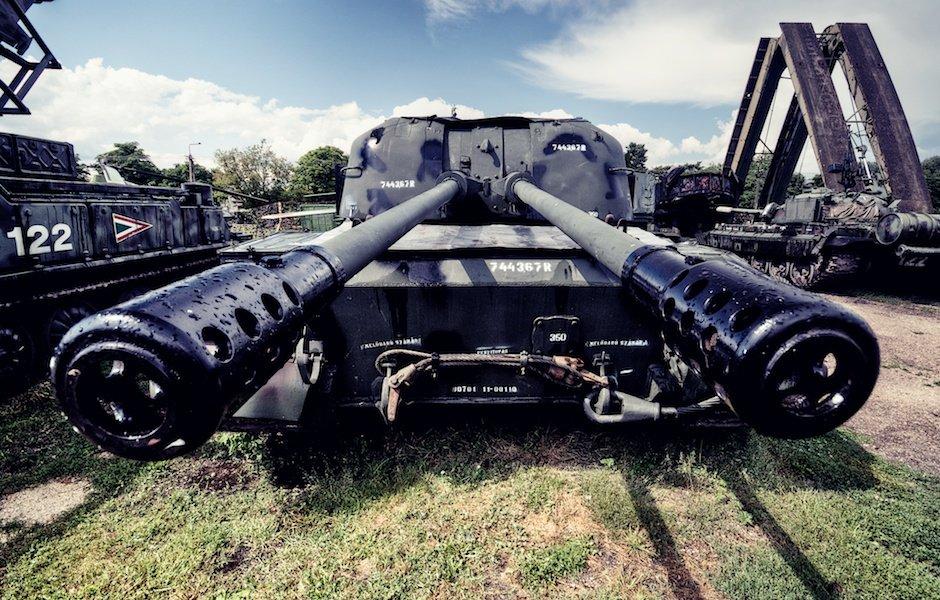 Russian anti-aircraft gun