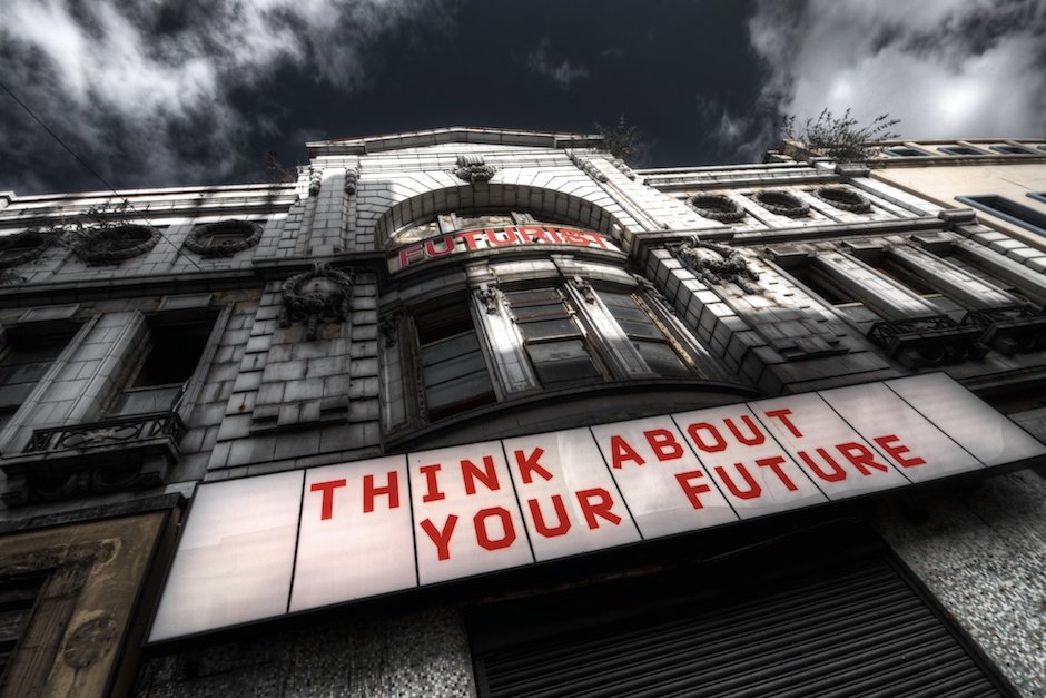 Think About Your Future - a Biennial piece from Emese Benczùr, Liverpool, October 2010