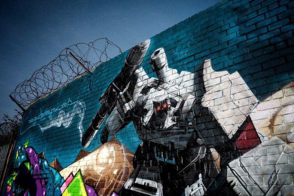 Transformers graffiti, Grafton Street, Liverpool