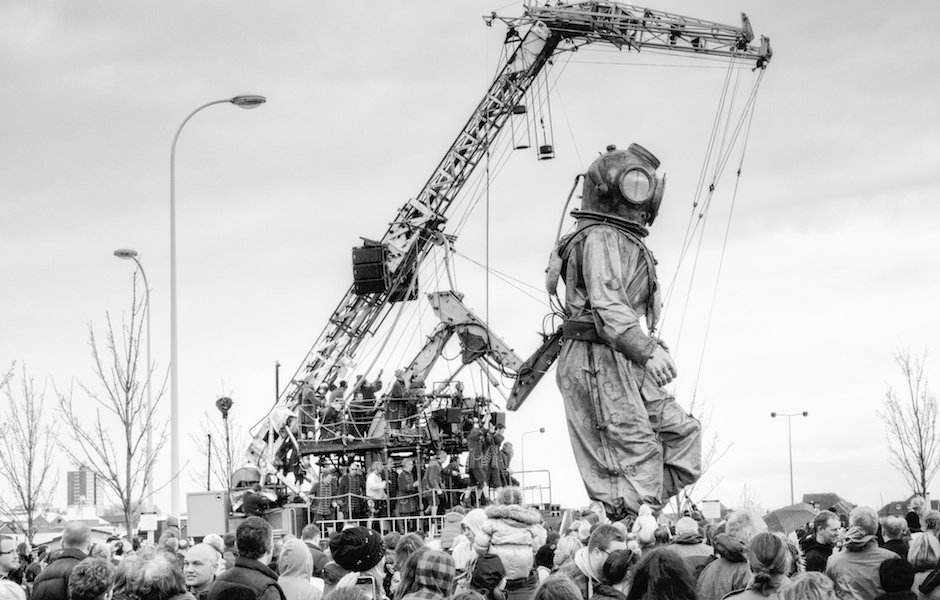 Sea Odyssey - Giant Uncle being operated by large crane