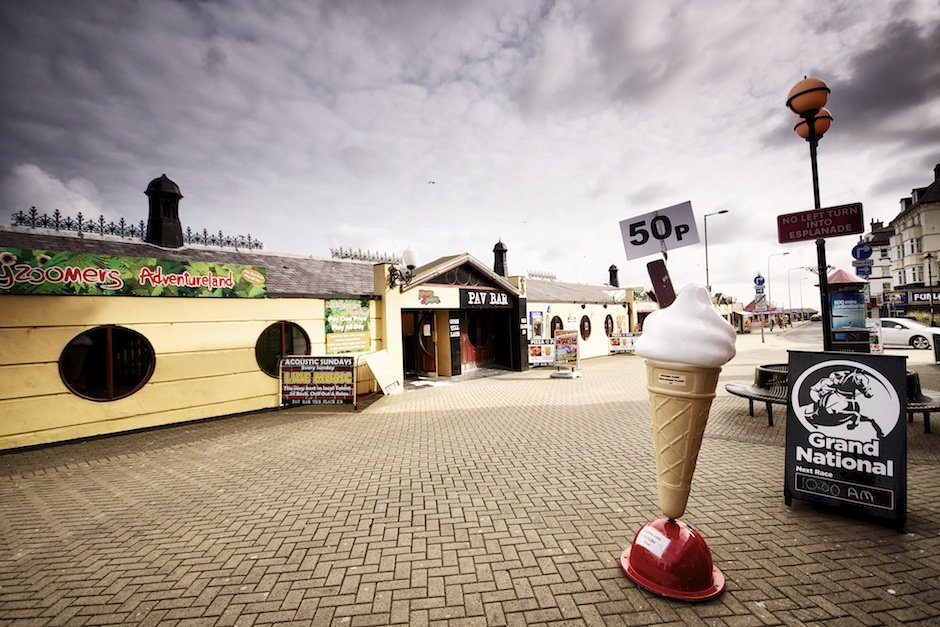 Bridlington - British seaside town shoot, ice cream cone