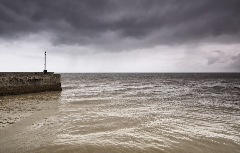 Bridington Lightouse on a stormy day