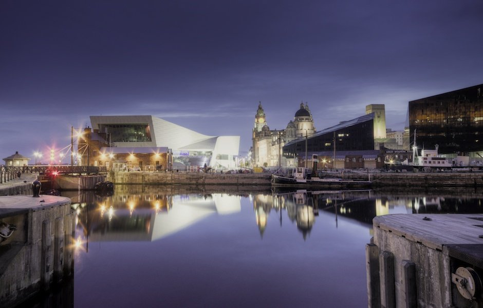 Liverpool Museum, Three Graces and Mann Island