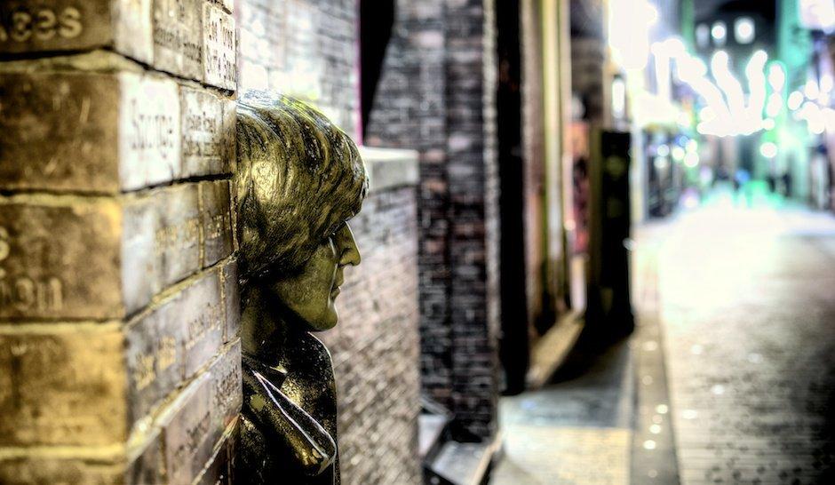 The John Lennon Statue on Mathew Street, Liverpool