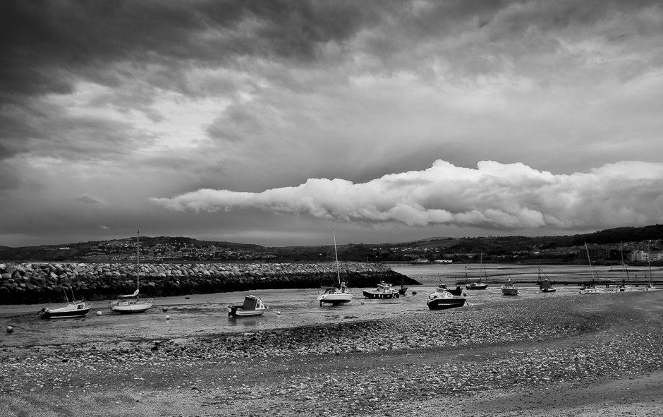 Boats and cloud landscape - Rhos-on-sea, North Wales