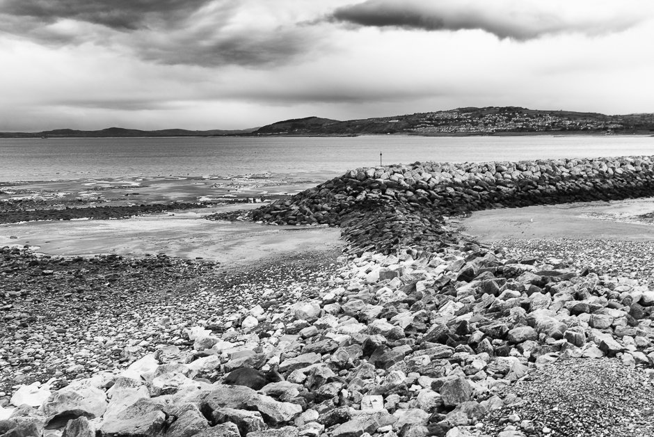 Rocks leading out to fishing weir, Rhos-on-sea, North Wales
