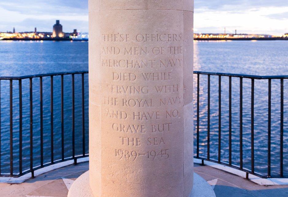 Merchant Navy Battle of the Atlantic Memorial memorial at the Pier Head, Liverpool