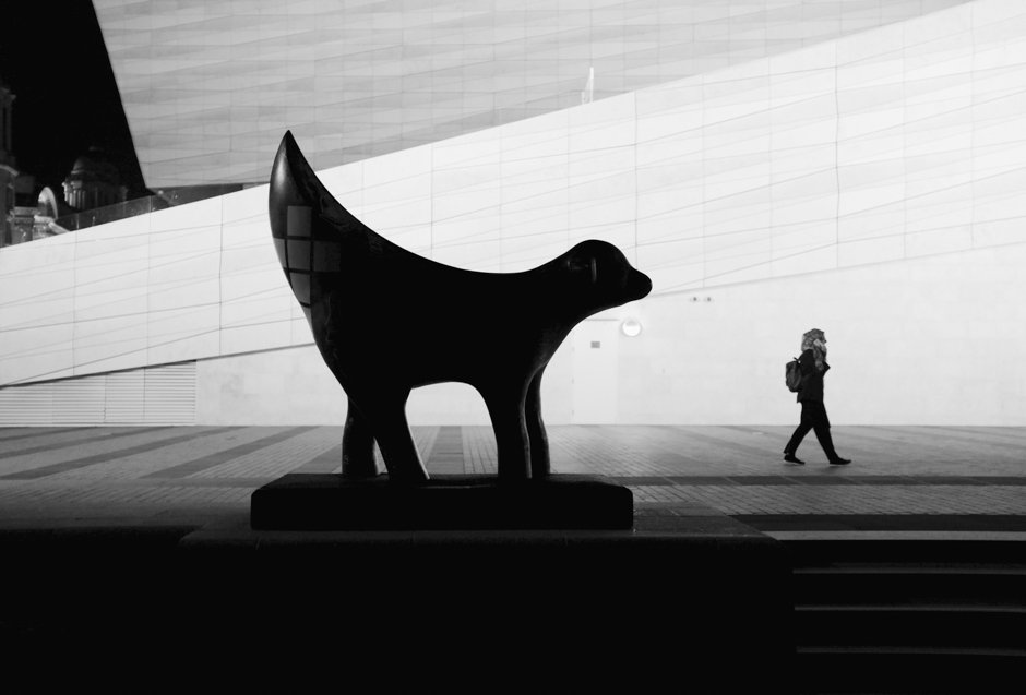 Black and White Superlambanana Silhouette