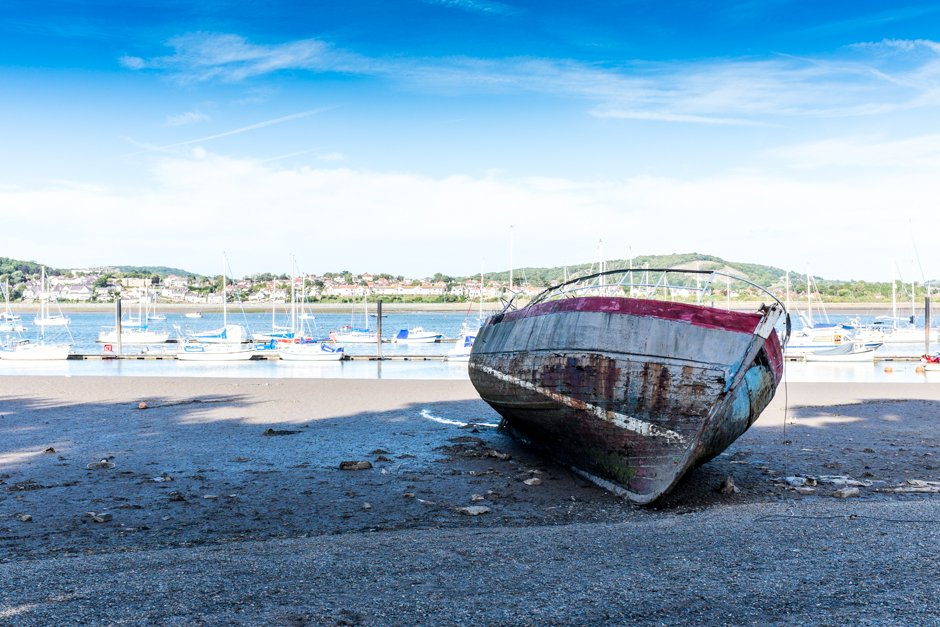 Washed up boat - Conwy, North Wales