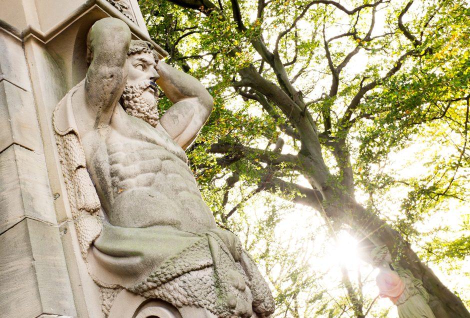 Autumn in Allerton - Statue, Calderstones Park
