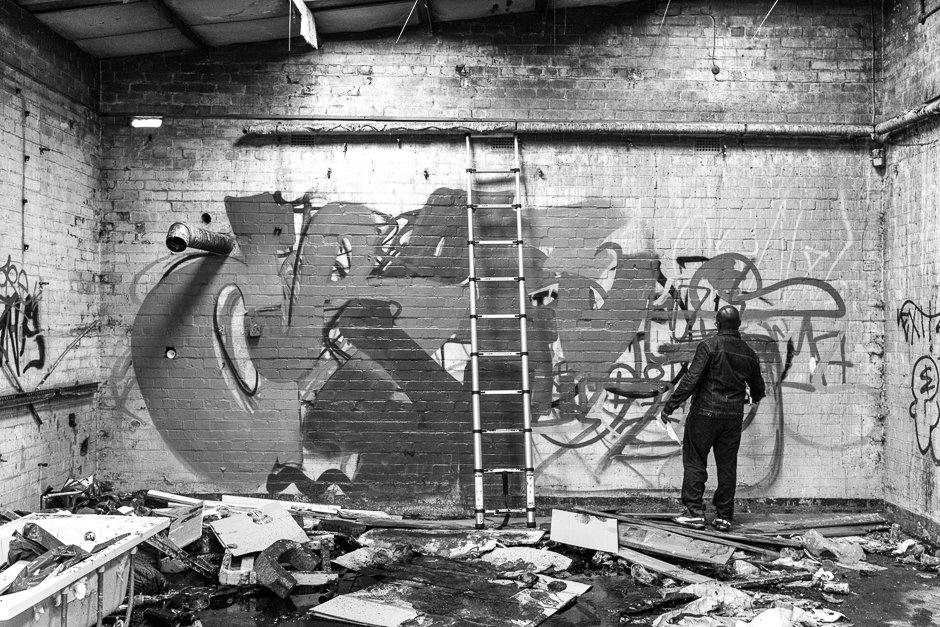 Graffiti artist, Mark It Festival, Liverpool